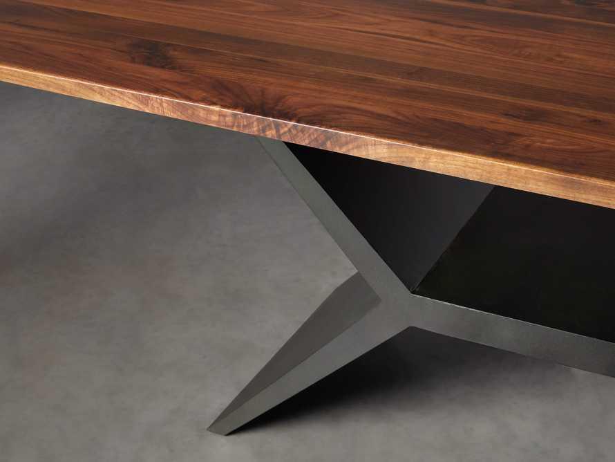 "Jacob 84"" Rectangle Dining Table Vertex Base in Walnut, slide 5 of 8"