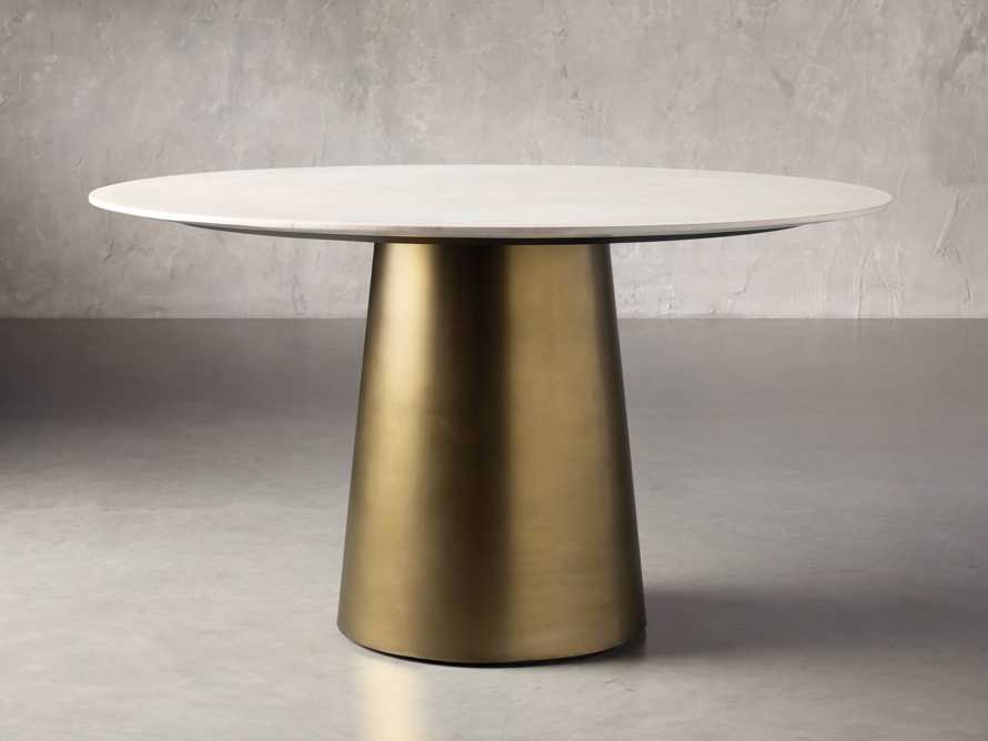 "Julia 54"" Stone Top Dining Table, slide 2 of 6"