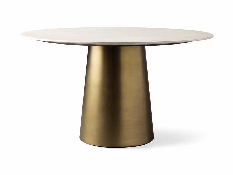 "Julia 54"" Stone Top Dining Table, slide 6 of 6"