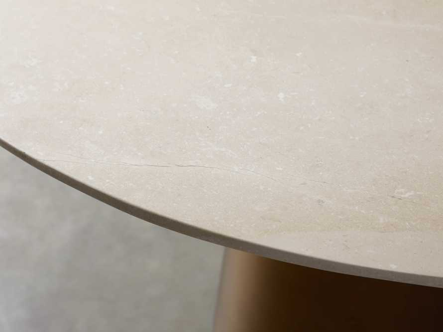 "Julia 54"" Stone Top Dining Table, slide 3 of 6"
