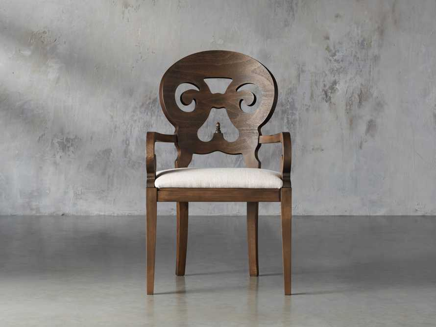 "Jordan 25"" Dining Arm Chair Upholstered in Cinder"