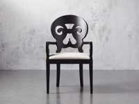 """Jordan 25"""" Dining Arm Chair Upholstered in Midnight"""