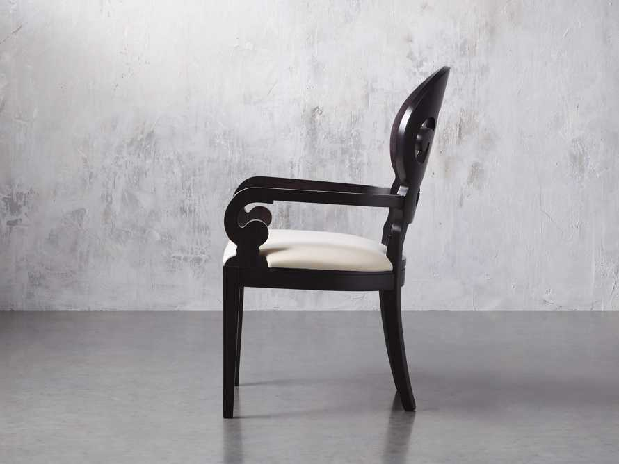 "Jordan 25"" Dining Arm Chair Upholstered in Midnight"