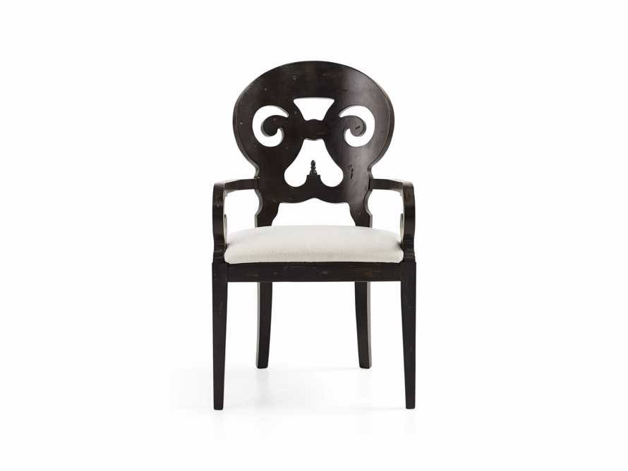 "Jordan 25"" Dining Arm Chair Upholstered in Worn Black"