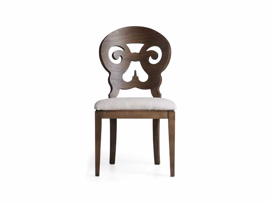 "Jordan 21"" Dining Side Chair Upholstered in Cinder"