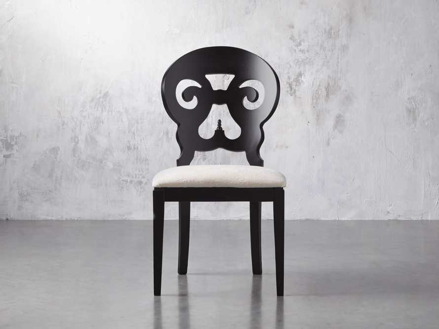 "Jordan 21"" Dining Side Chair with Upholstered Seat in Midnight, slide 3 of 12"