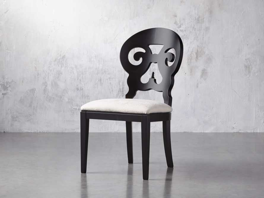 "Jordan 21"" Dining Side Chair with Upholstered Seat in Midnight, slide 4 of 12"