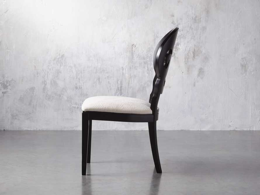"Jordan 21"" Dining Side Chair with Upholstered Seat in Midnight, slide 5 of 12"