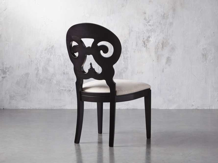 "Jordan 21"" Dining Side Chair with Upholstered Seat in Midnight, slide 6 of 12"