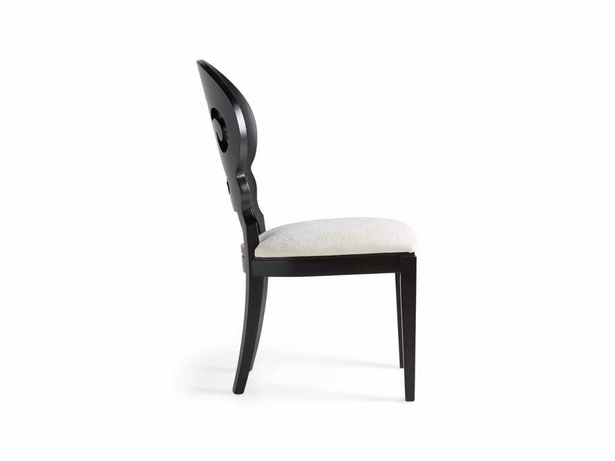 "Jordan 21"" Dining Side Chair with Upholstered Seat in Midnight, slide 10 of 12"