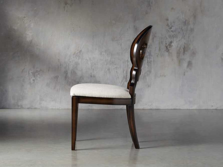 "Jordan 21"" Dining Side Chair with Upholstered Seat in Noceto, slide 3 of 7"