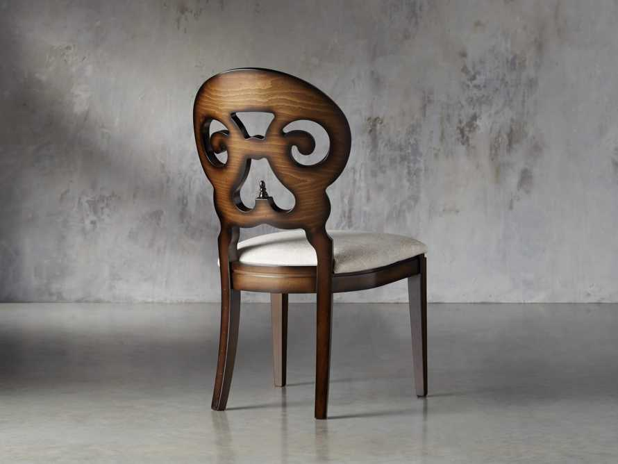 "Jordan 21"" Dining Side Chair with Upholstered Seat in Noceto, slide 5 of 7"