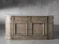 "Kensington 75"" Buffet with Marble Top in Earl Grey"