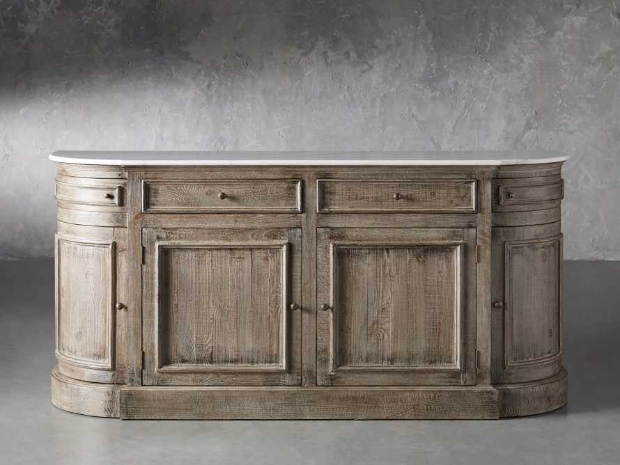 "Kensington 75"" Buffet with Marble Top in Earl Grey, slide 2 of 13"