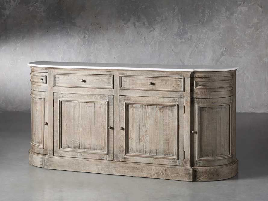 "Kensington 75"" Buffet with Marble Top in Earl Grey, slide 3 of 13"