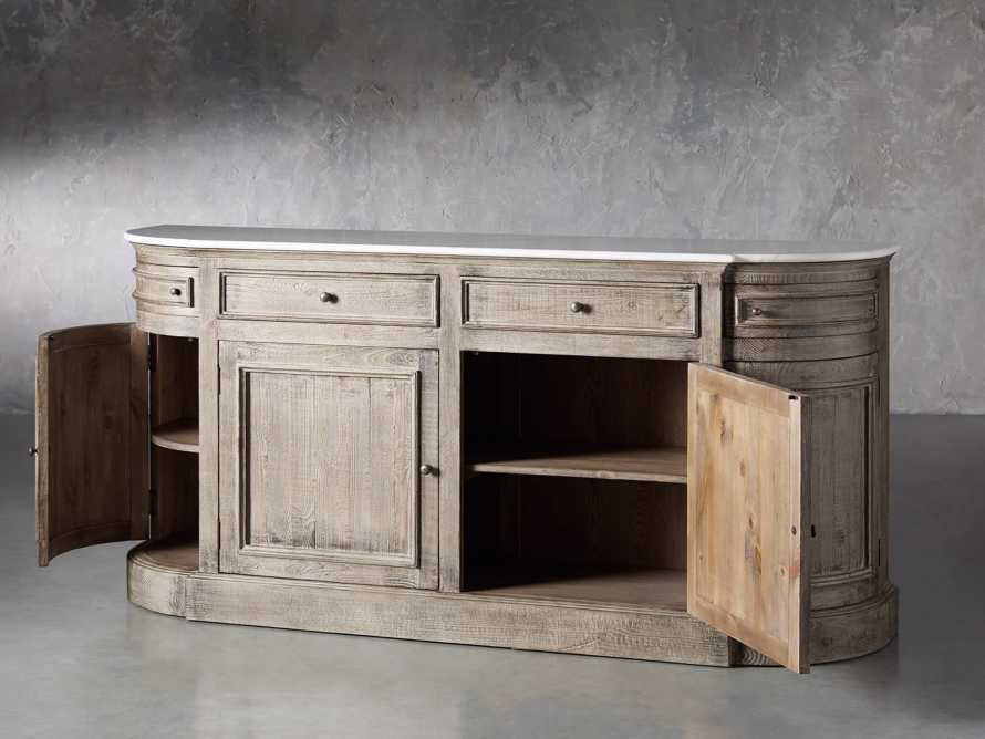 "Kensington 75"" Buffet with Marble Top in Earl Grey, slide 4 of 13"