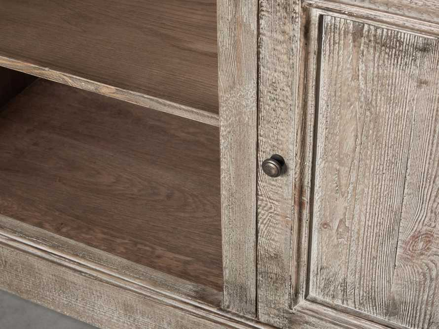 "Kensington 75"" Buffet with Marble Top in Earl Grey, slide 7 of 13"