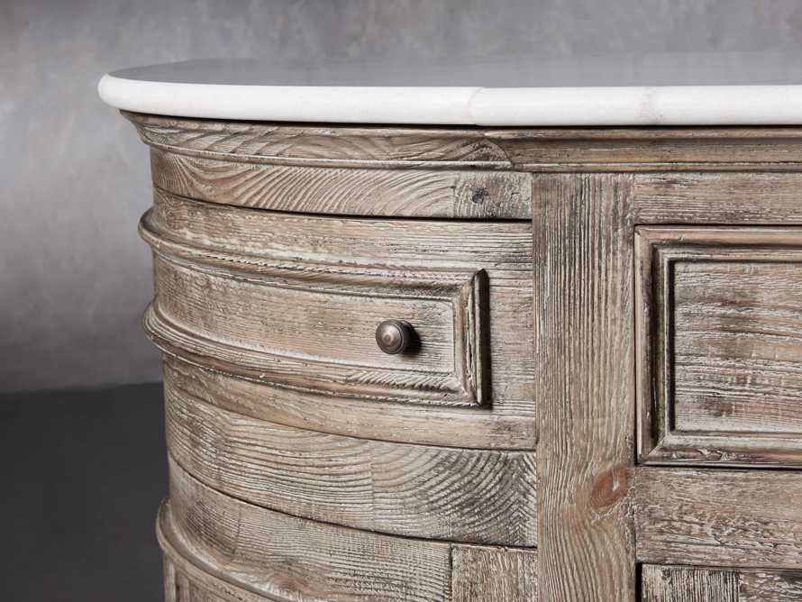 "Kensington 75"" Buffet with Marble Top in Earl Grey, slide 8 of 13"