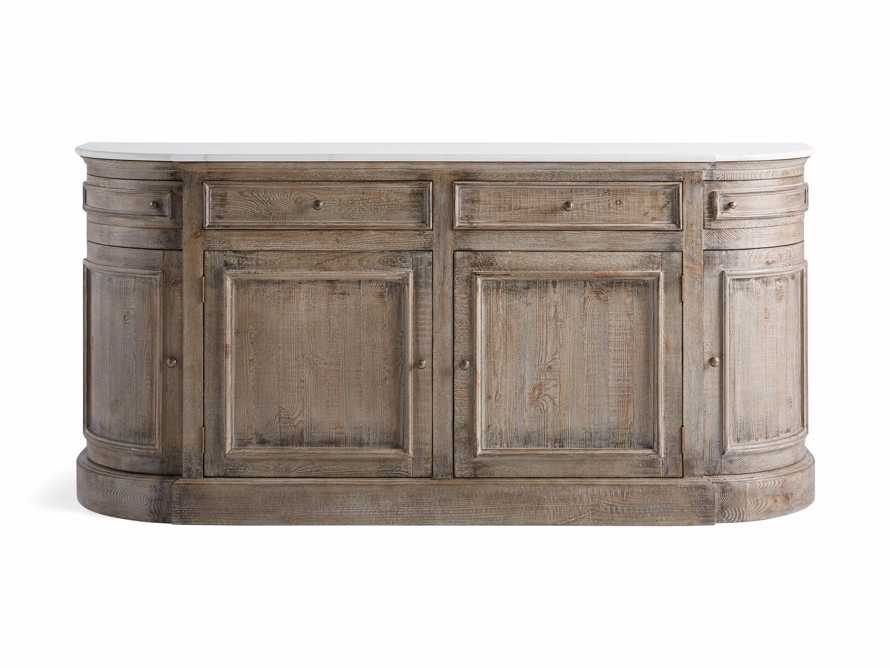 "Kensington 75"" Buffet with Marble Top in Earl Grey, slide 11 of 13"