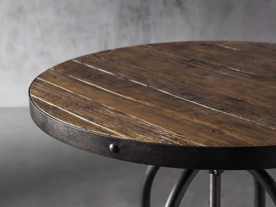 "Kensington 32"" Round Adjustable Height Bar Table In Barnwood Natural"