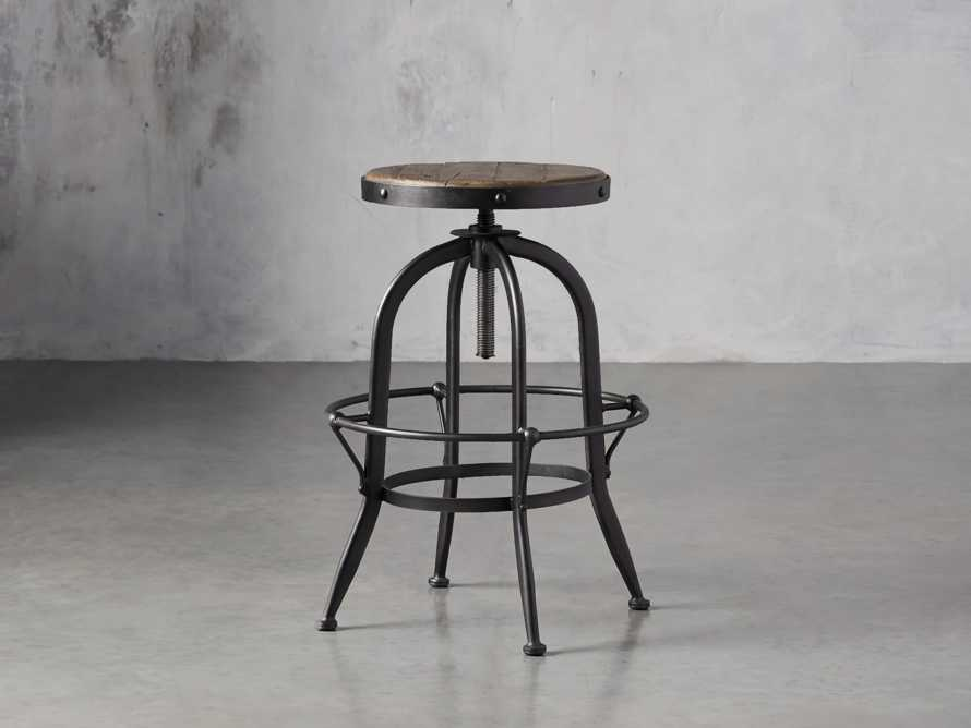"Kensington 20"" Adjustable Stool in Barnwood Natural"