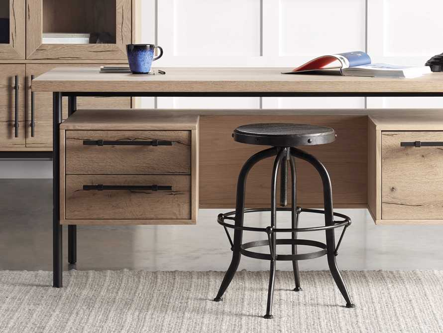 "Kensington 20"" Adjustable Stool in Ebony, slide 1 of 8"