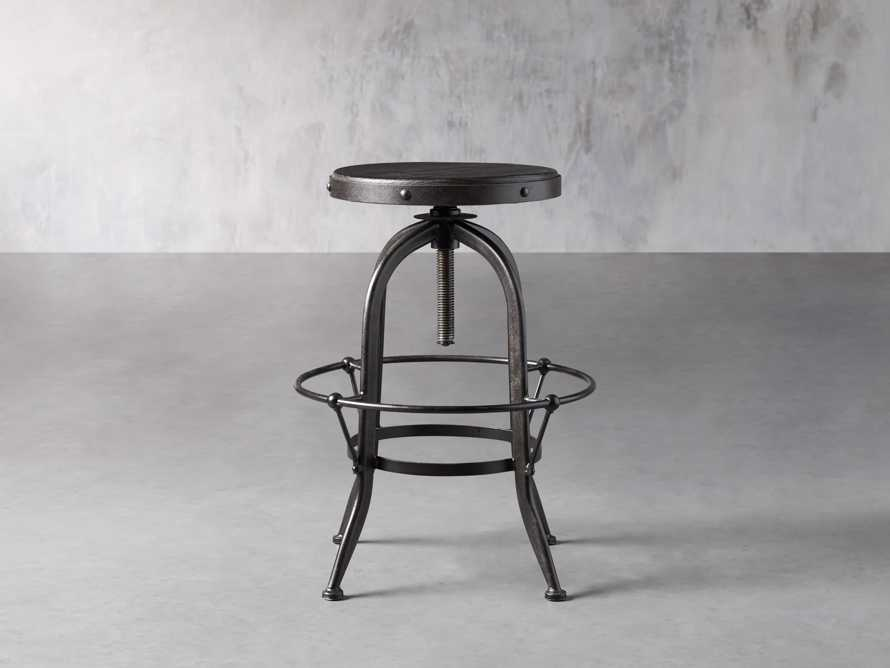 "Kensington 20"" Adjustable Stool in Ebony, slide 2 of 8"