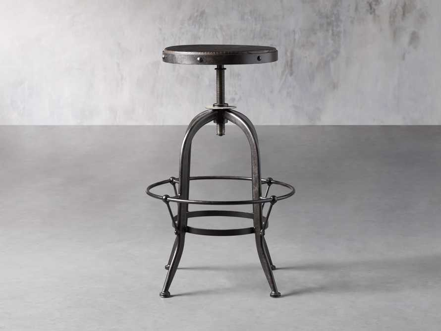 "Kensington 20"" Adjustable Stool in Ebony, slide 3 of 8"