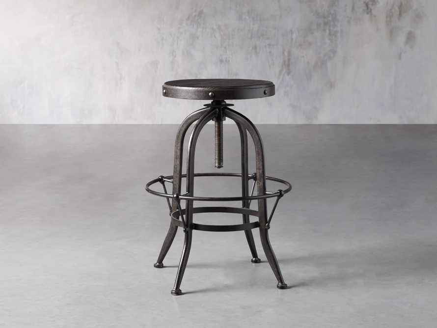 "Kensington 20"" Adjustable Stool in Ebony, slide 4 of 8"