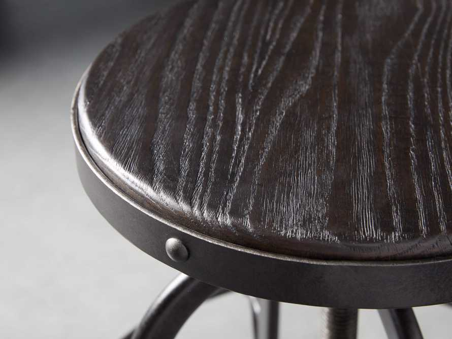 "Kensington 20"" Adjustable Stool in Ebony, slide 5 of 8"