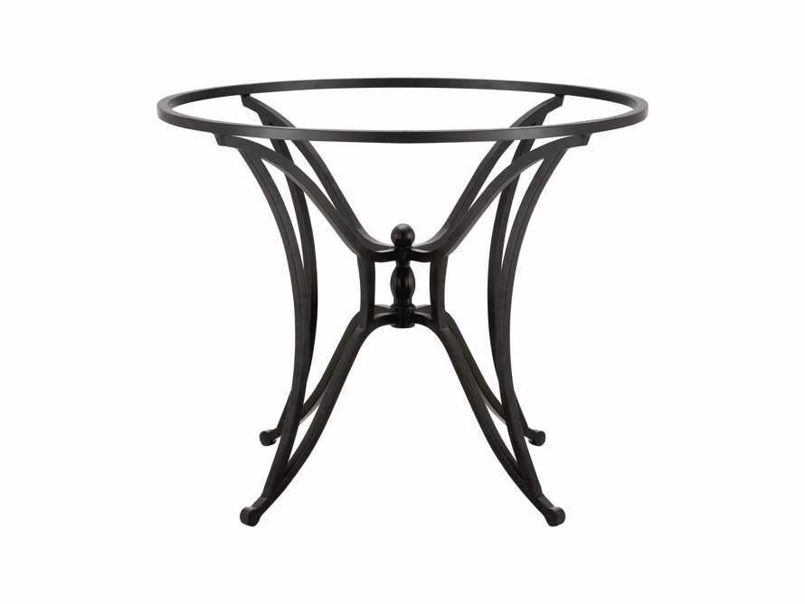 Kenya Iron Dining Table Base In Distressed Black