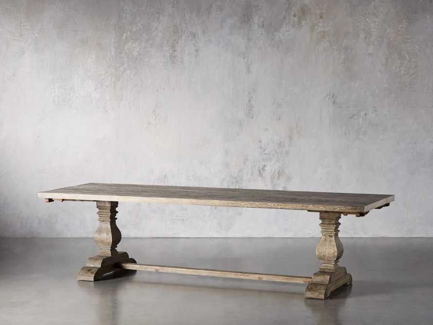 "Kensington Oak 118"" Extension Dining Table in Earl Grey, slide 4 of 15"