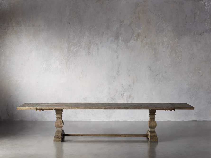 "Kensington Oak 118"" Extension Dining Table in Earl Grey, slide 6 of 15"