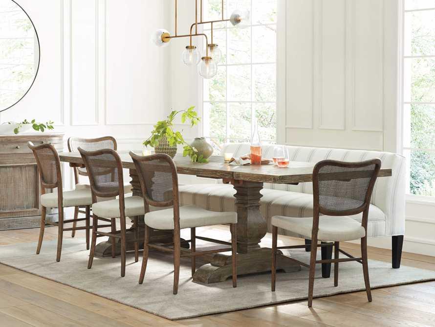 "Kensington Oak 118"" Extension Dining Table in Earl Grey, slide 1 of 15"