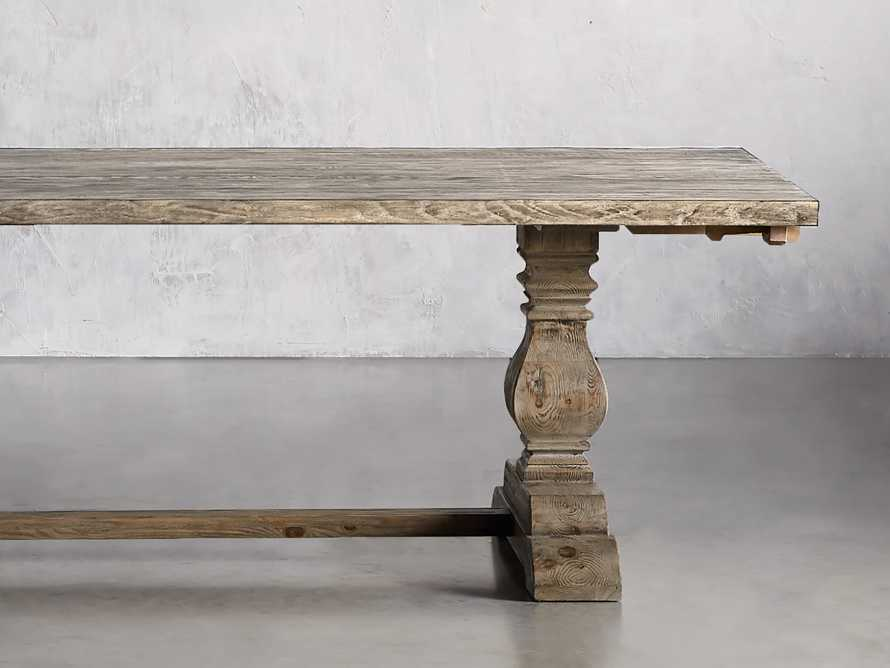 """Kensington 118"""" Rectangle Extension Dining Table Top In Earl Grey, slide 2 of 14"""