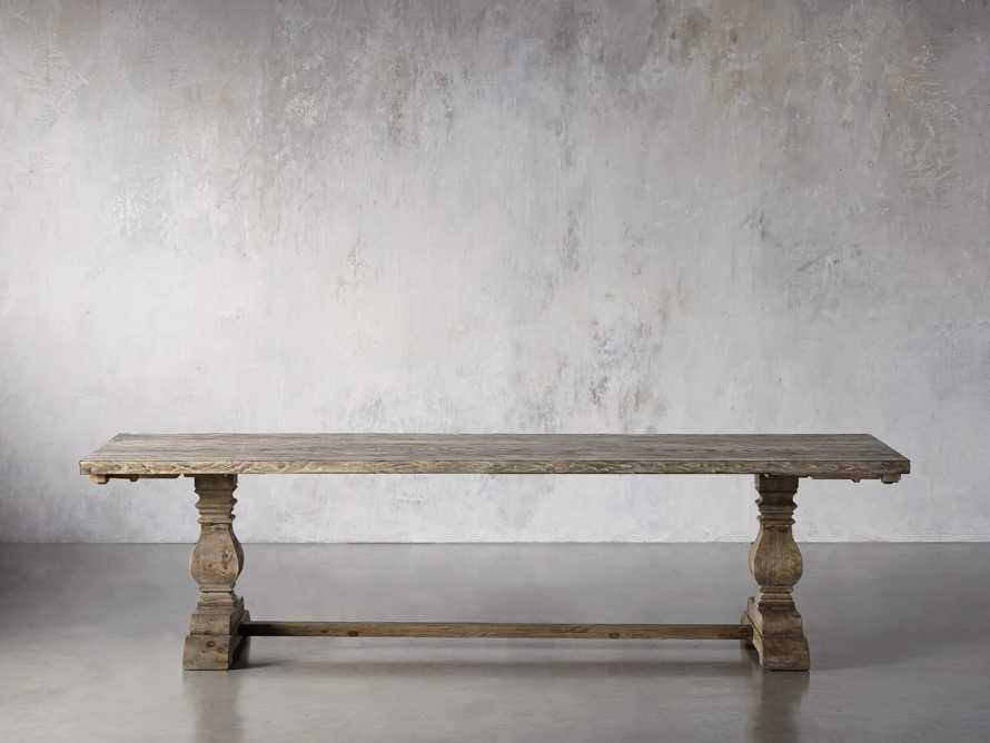 """Kensington 118"""" Rectangle Extension Dining Table Top In Earl Grey, slide 3 of 14"""