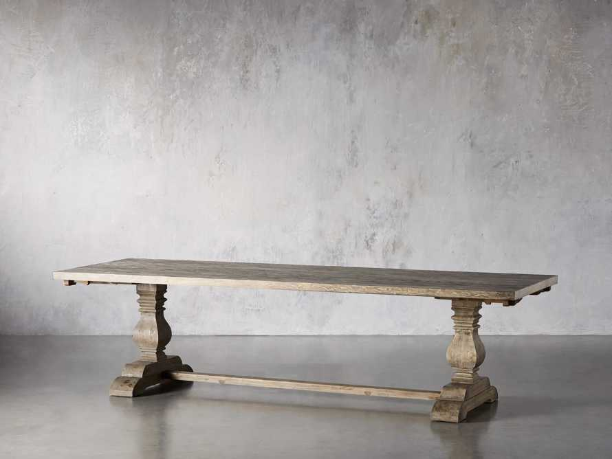 """Kensington 118"""" Rectangle Extension Dining Table Top In Earl Grey, slide 4 of 14"""