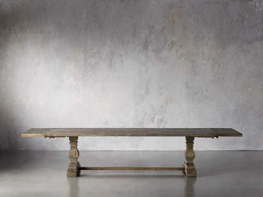 """Kensington 118"""" Rectangle Extension Dining Table Top In Earl Grey, slide 6 of 14"""