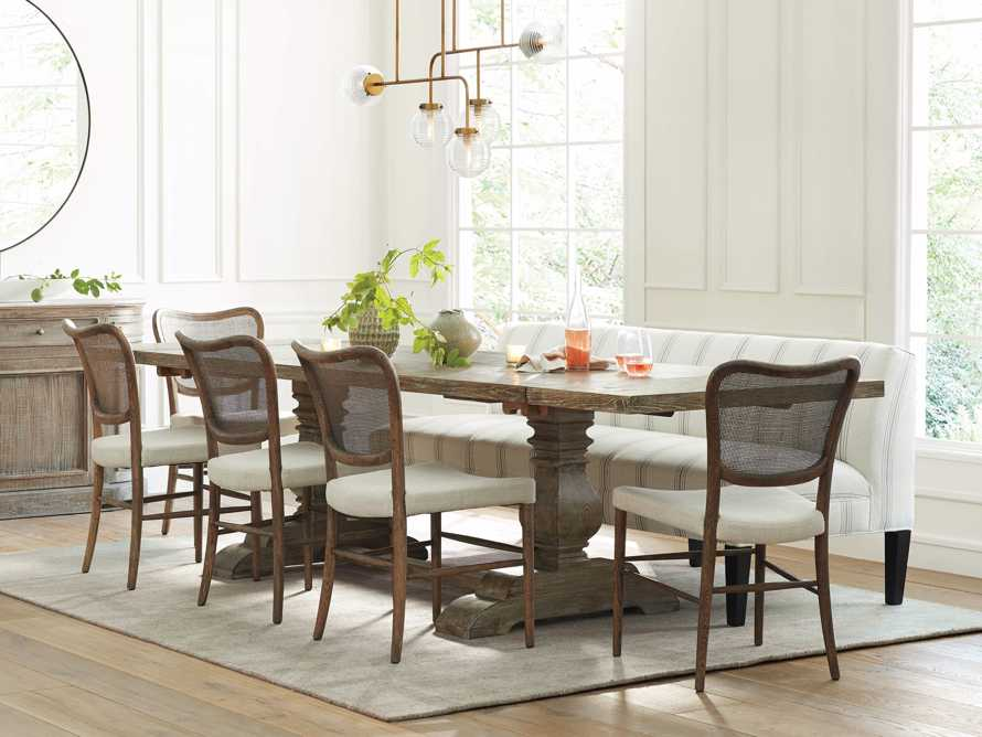 """Kensington 118"""" Rectangle Extension Dining Table Top In Earl Grey, slide 1 of 14"""