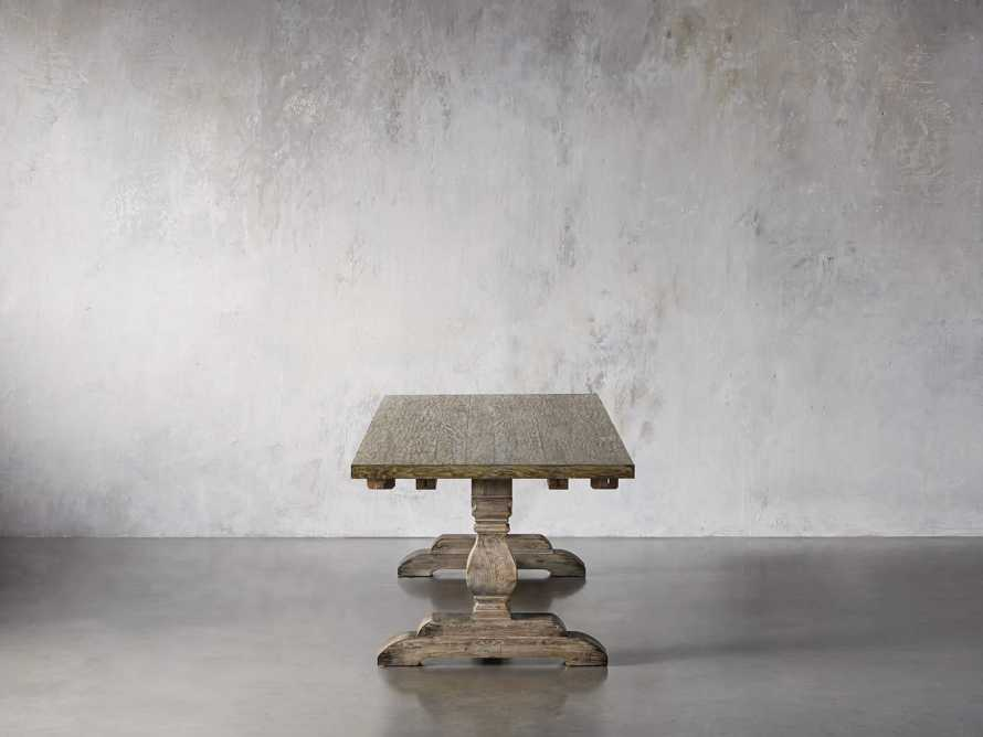"""Kensington 118"""" Rectangle Extension Dining Table Top In Earl Grey, slide 5 of 14"""