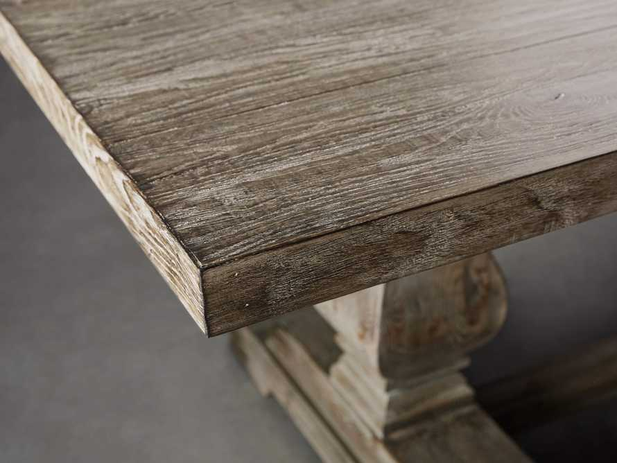 """Kensington 118"""" Rectangle Extension Dining Table Top In Earl Grey, slide 10 of 14"""