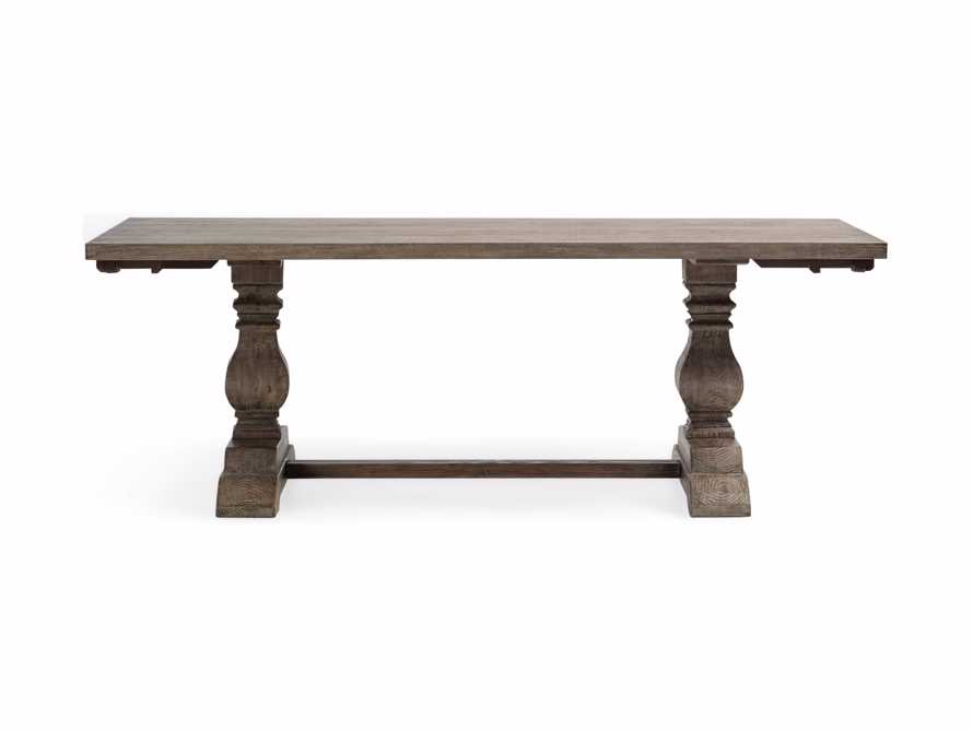 """Kensington 118"""" Rectangle Extension Dining Table Top In Earl Grey, slide 11 of 14"""