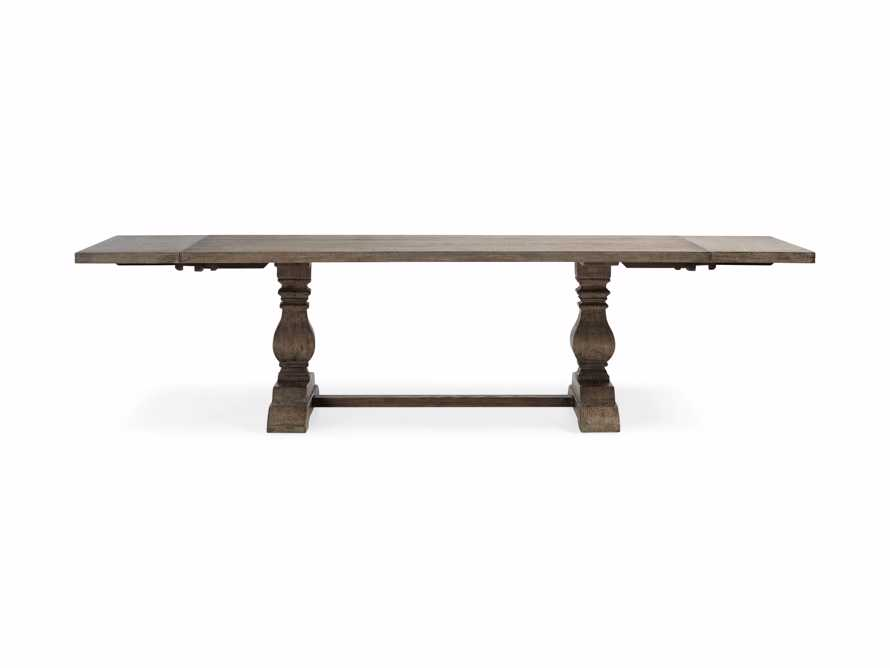 """Kensington 118"""" Rectangle Extension Dining Table Top In Earl Grey, slide 12 of 14"""