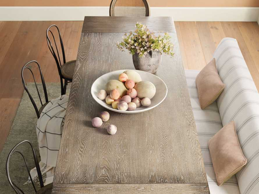 """Kensington 118"""" Rectangle Extension Dining Table Top In Earl Grey, slide 7 of 14"""