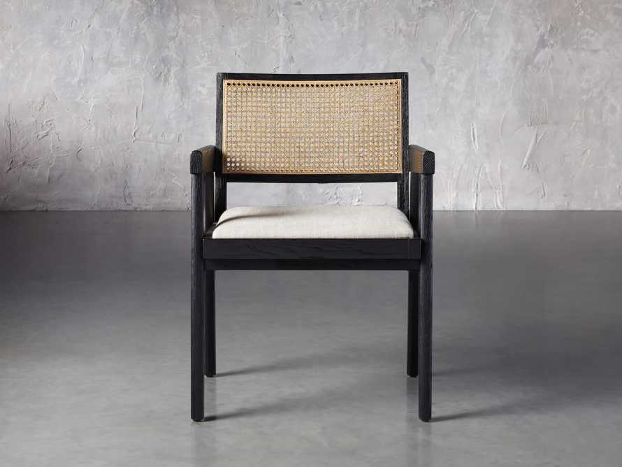 """Kroy Cane Back 23"""" Dining Arm Chair, slide 1 of 8"""