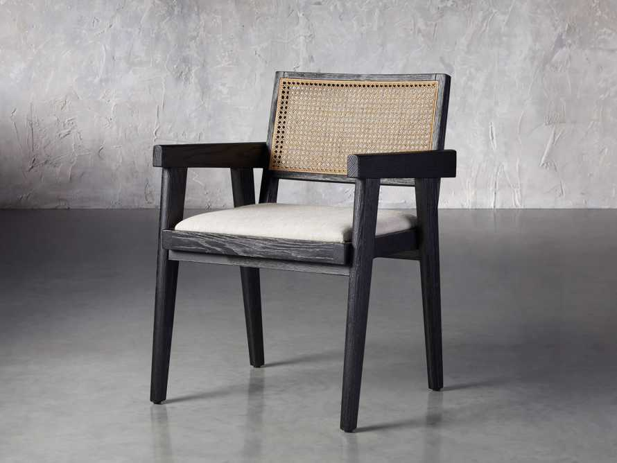 """Kroy Cane Back 23"""" Dining Arm Chair, slide 2 of 8"""
