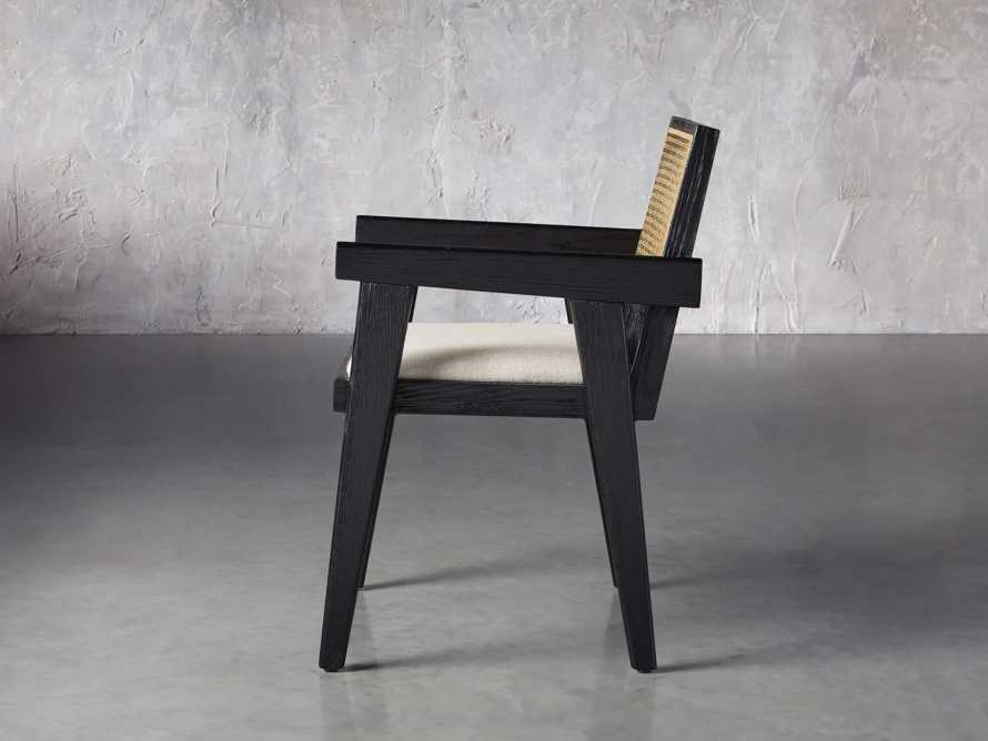 """Kroy Cane Back 23"""" Dining Arm Chair, slide 3 of 8"""