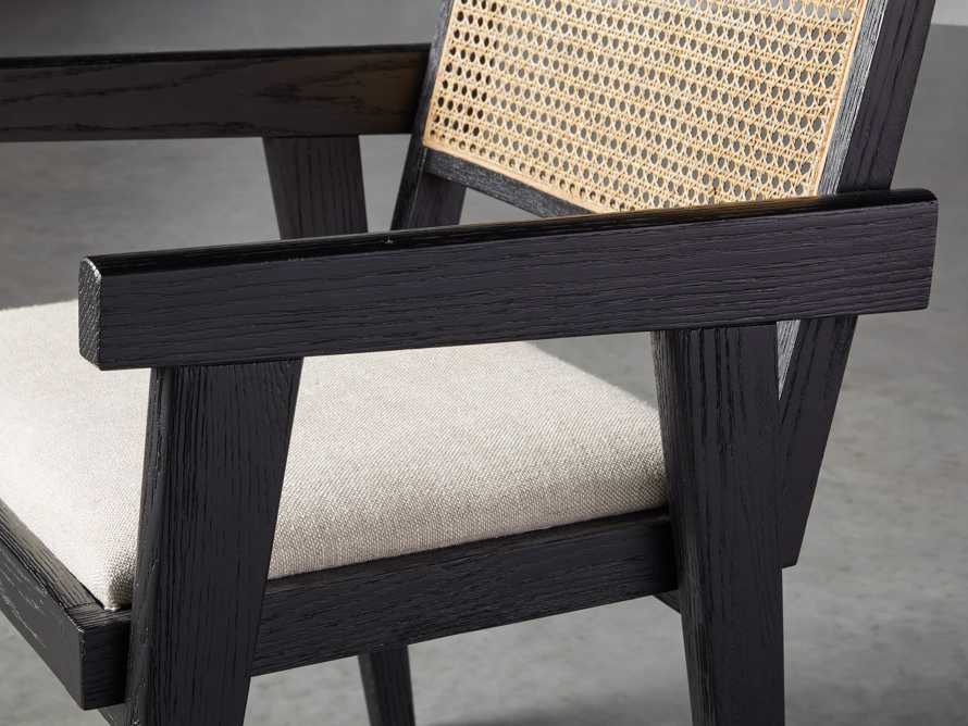 """Kroy Cane Back 23"""" Dining Arm Chair, slide 5 of 8"""