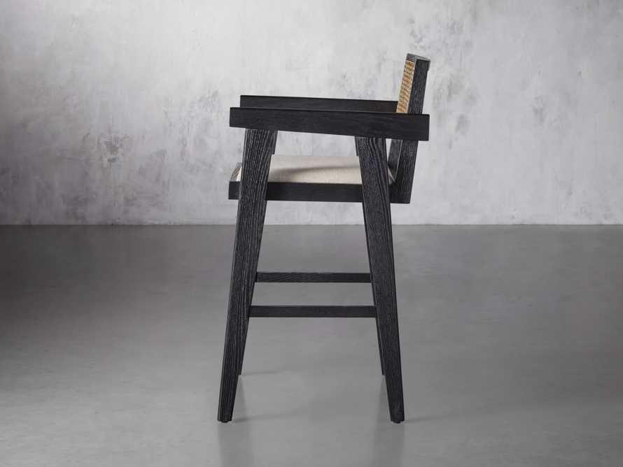 """Kroy 23"""" Caneback Counterstool in Rustic Black, slide 3 of 7"""