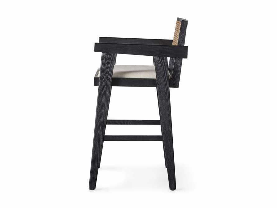 """Kroy 23"""" Caneback Counterstool in Rustic Black, slide 7 of 7"""